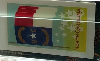 NC flag postcard