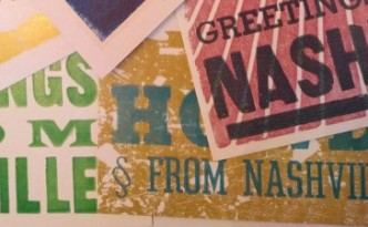 Cropped photo of postcards from Nashville